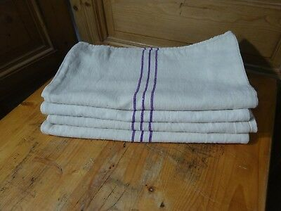 Antique European Feed Sack GRAIN SACK Mixed Purple Stripe # 10658