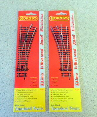 New Hornby Right Hand Standard Point R8073 & Left Hand Standard Point R8072