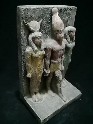 Rare Antique Ancient Egyptian Statue Of Osiris And Nephthys And Isis 1500-300 Bc