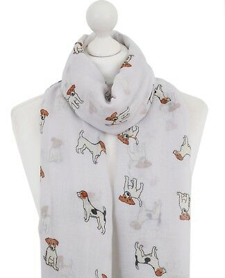Jack Russell Scarf Mustard Purple White Silver Grey Pink Blue Dogs Scarves Dog