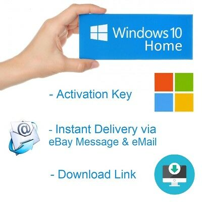 Microsoft Win­dows 10 HOME KEY 32-64 Bit OEM Product MS Win Activation Schlüssel