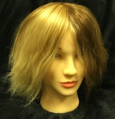 "Fromm Hilary ""Diane"" MANNEQUIN HEAD 100% HUMAN HAIR 17-19"" Quad New"