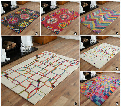 Huge Clearance Sale Discount Offer On Multi Coloured Small Extra Large Rugs Mats