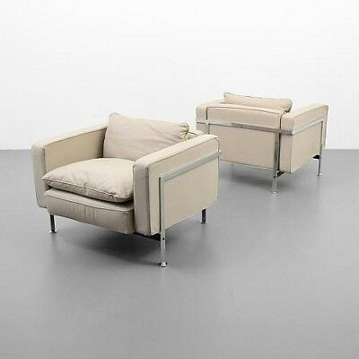 Pair of Robert Haussmann Leather Lounge Chairs Lot 12