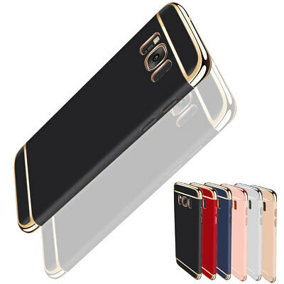 For Samsung Galaxy S7 Hard Camera Protector Electroplate 3 IN 1 Slim Case Cover