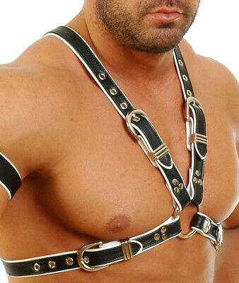 AW-6734 Einheitsgröße Leder Harness,Original Lederharness,Chest Harness,Harnais