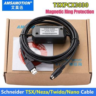 TSXPCX3030-C Programming Cable For Schneider Wido/ TSX /Neza Series PLC