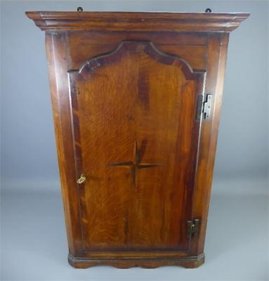 A Lovely Early 19Th Century Oak And Mahogany Country House Corner Cupboard
