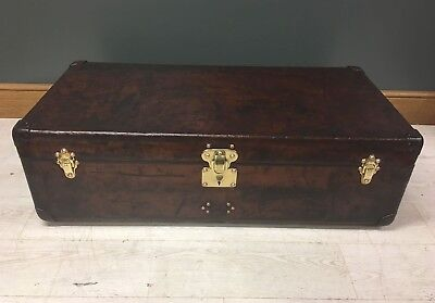 Antique Louis Vuitton Leather Cabin Trunk