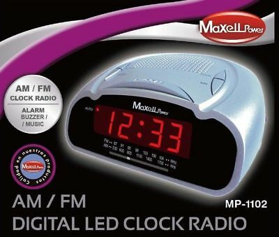 Reloj despertador digital con radio fm am alarma o musica funcion SNOOZE SLEEP