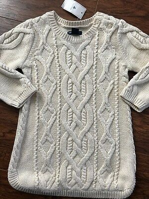 920b08a43 NWT BABY TODDLER GIRL Janie and Jack Cable Knit Sweater Dress 12-18 ...