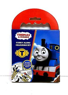 Thomas TheTank Engine Carry Along Colouring Set Crayons CAR JOURNEY PARTY BAG