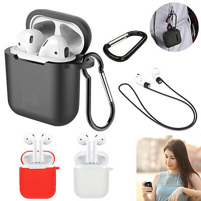AirPods Accessories Case Protective Silicone Cover Skin Strap For Airpod Air Pod