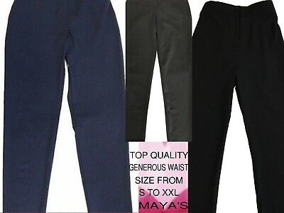 "Girls Sturdy Fit School Trousers Generous Fit Half Elasticated  25""-40"" Waist"