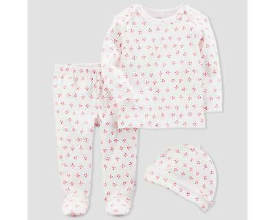 Baby Girls' 3pc Floral Set - little planet organic by carter's Pink 6M