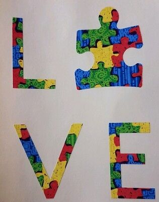 LIVE LOVE AUTISM Square Sticker Autistic Awareness Decal Family Son Daughter V3