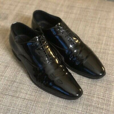 836e14453e NIB SAINT LAURENT Paris Black Patent Leather
