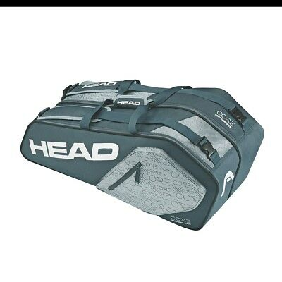 NEW Head Core 6R Combi 6 Racquet Tennis Bag Blue/Grey/White from Rebel Sport