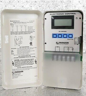 New PARAGON Electric EC7001/120 Electronic 7 Day Timer Control 120 VAC