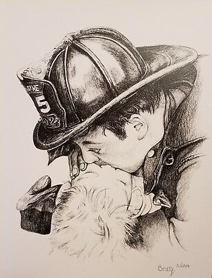 Chicago firefighter drawing