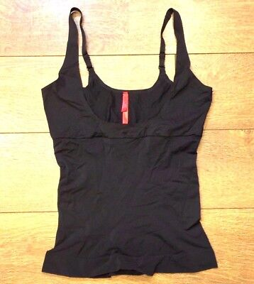 SPANX SHAPE MY DAY OPEN BUST CAMI CAMISOLE TANK sz L LARGE BLACK NWT $62