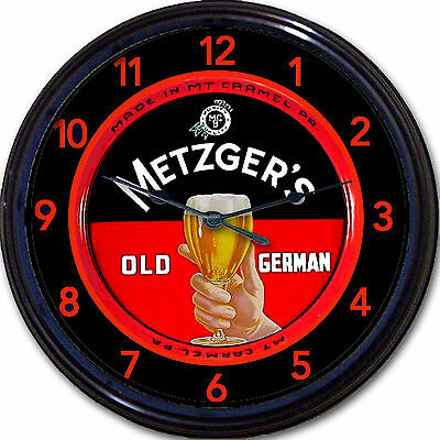 Metzgers Old German Mt Carmel Brewery PA Beer Tray Wall Clock Ale Lager 10""