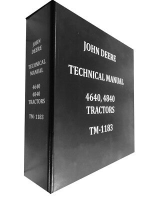 4640 John Deere Technical Service Shop Repair Manual HUGE BOOK