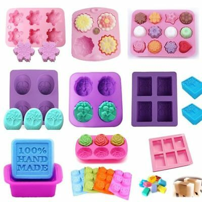 Soap Mold Cake Candy Chocolate Cookies Baking Mold Ice Cube Silicone Mould