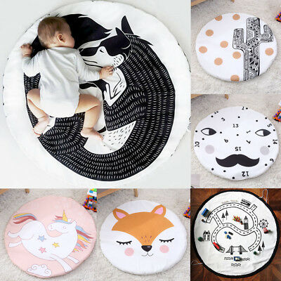 Baby Crawling Blanket Infants Kids Soft Game Playmat Cartoon Creeping Play Mat
