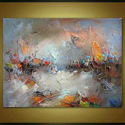 Modern Original Abstract Art Hand Drawn Oil Painting Home Decor Wall On Canvas