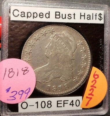 1818 Capped Bust Half Dollar 6227