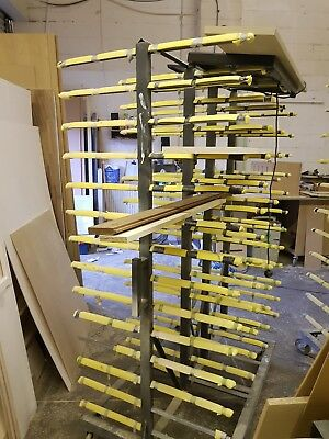 Drying, metal rack for panels, used