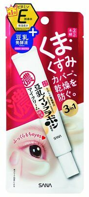 SANA Nameraka Honpo Soy Milk Isoflavone 3-in-1 Plumping Eye Cream 20g Japan
