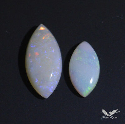 Australian Natural Coober Pedy Opal 2 Pieces Solid Stone Polished 0.70 Cts #1.12