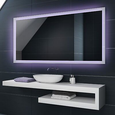 Illuminated LED Bathroom Mirror To Measure Custom Size | L01 FL