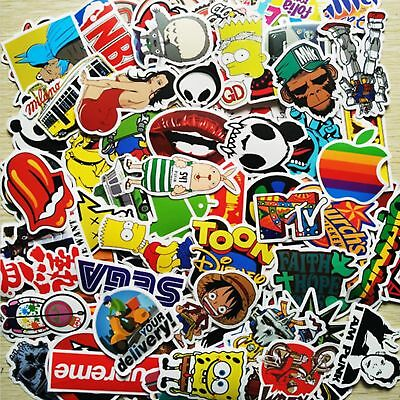 500 Random Vinyl Decal Graffiti Stickers Car Bomb Laptop Waterproof Skate Laptop