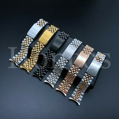 19 20 21MM President jubilee Watch Band Bracelet Fits for Rolex Stainless Silver