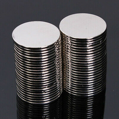 50pcs N50 Puissant Rond Aimant 15x1mm Magnet Terres Rares Earth Néodyme NdFeB