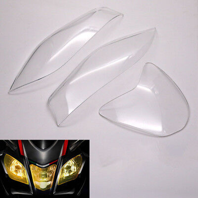 ABS Plastic Headlight Lens Cover Screen Protector For Aprilia RSV4 2017-2018