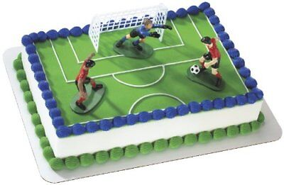 Soccer Birthday Party Supplies Cake Toppers Kick Off Boys Soccer Players Goalie