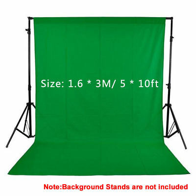 1.6x3M / 5x10ft Photography Studio Non-woven Background Screen Green Backdrop PE