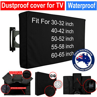 30-58 Inch TV Cover Dustproof Waterproof Outdoor Patio Television Protector Case