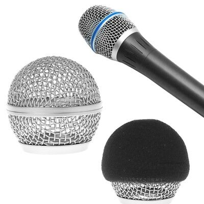 Replacement Head Ball Mesh Microphone Grille For Shure BETA58 BETA58A SM58 SM58S