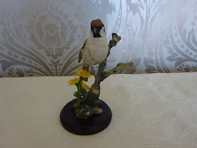 Country Artists Bird Figure The Sparrow with Common Ragwort 03235