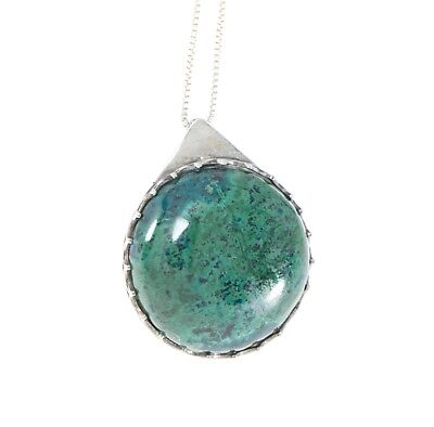 Eilat Stone Pendant in 925 Sterling Silver +  Necklace #1