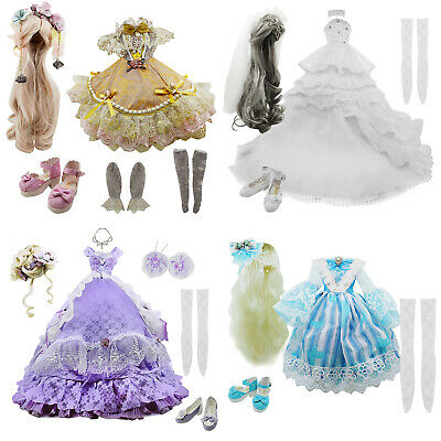 """Toy Doll Clothes Wigs Shoes for 1/3 22"""" F01 EVA BJD SD Doll Full Set Accessories"""