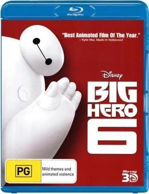 Disney Big Hero 6 1-Disc 3D Bluray Region Free ABC New