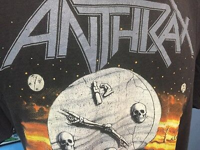 Vtg Anthrax / Persistence Of Time 1990  Xl T-Shirt Shirt Thin Worn Distressed