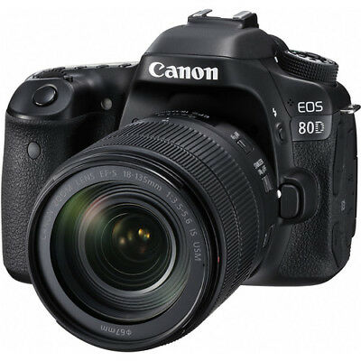 Nuovo Canon EOS 80D Digital SLR Camera + 18-135mm f/3.5-5.6 IS USM Obiettivo