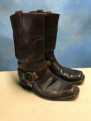 Vintage Sears MADE IN THE USA Harness Motorcycle Engineer Riding Boots Men 7.5 D